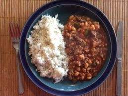 Dunrobin Valley Beef Chilli and Rice