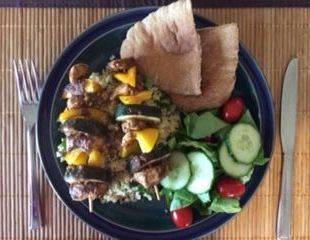 Dunrobin Valley Chicken Kebabs with Lemon and Coriander Couscous