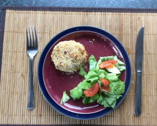 Dunrobin Valley Golden Potato Cakes with Side Salad